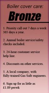 Bronze Boiler cover Care
